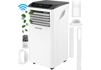 ECHOS Eco-112 Mobiles Klimagerät 9000 BTU Mobile Klimaanlage Aircooler Waldhorn Weiß (Max. Raumgröße: 50 m², EEK: A)