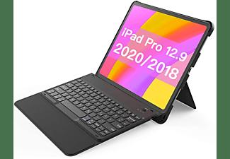 INATECK Tastatur Hülle für iPad Pro 12,9 Zoll 2020/2018(4. und 3. Gen) mit Standfuß KB02010_black, iPad Tastatur