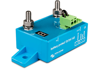 VICTRON ENERGY BatteryProtect BP-65 12/24V 65A Batteriewächter Tiefentladeschutz Batteriewächter 12V und 24V Batterien, 12 Volt, Blau