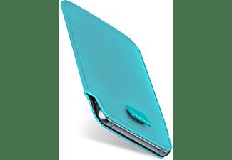 MOEX Slide Case, Sleeve, Lenovo, Moto Z Play, Aqua-Cyan