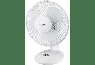 GLOBO Tischventilator Ventilator Metall 2-stufig weiß 0407 Ventilator Weiß