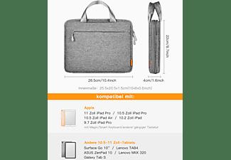 "INATECK Tablet Tasche Hülle für 10,2"" iPad 8 2020/2019/10,9 iPad Air 4 2020/11"" iPad Pro/Surface Go Tablet-Tasche Sleeve für Apple,Microsoft,Samsung,HUAWEI,ASUS,Lenovo Polyester, grau"