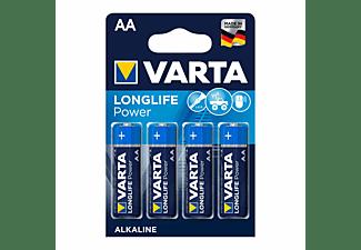 VARTA Longlife Power Mignon AA Batterie 4906 LR06 (4er Blister) AlMn Batterie, AlMn, 1.5 Volt, 2.96 Ah
