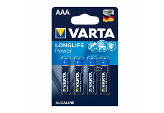 VARTA Longlife Power Micro AAA Batterie 4903 LR03 (4er Blister) AlMn Batterie, AlMn, 1.5 Volt, 1.26 Ah