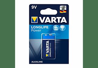 VARTA Longlife Power 9V Block Batterie 4922 6LR61 (1er Blister) AlMn Batterie, AlMn, 9 Volt, 0.58 Ah