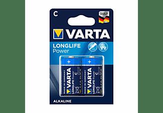 VARTA Longlife Power Baby C Batterie 4914 LR14 (2er Blister) AlMn Batterie, AlMn, 1.5 Volt, 7.8 Ah