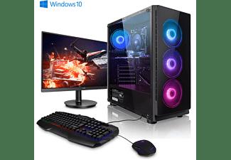 MEGAPORT AMD Ryzen 5 2600X, Gaming PC, 16 GB RAM, 1000 GB SSD, 0 GB, NVIDIA GeForce GTX 1660 Super, 6 GB