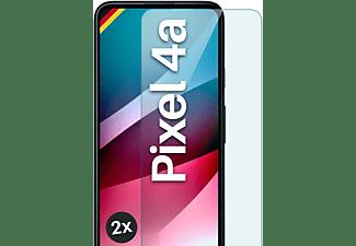 MOEX 2x Panzerglas - Schutzfolie, klar Display Schutzglas(für Google Pixel 4a)