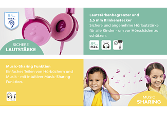 SNAKEBYTE Kids Headphone, pink