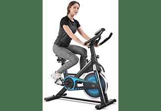 COSTWAY Fitnessbike Schwarz, Blau