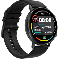 LEVOWATCH F-Series Smartwatch Aluminium-Rand Silikon, Schwarz