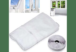 ECHOS Eco-9001 Fensterabdichtung Fensterkit Universal Fensterkit für Klimaanlagen Weiß (Max. Raumgröße: 50 m², EEK: A)
