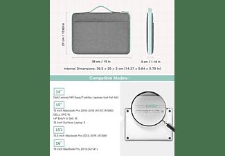 INATECK Laptoptasche Hülle Kompatibel mit 16 Zoll MacBook Pro 2019/15 Zoll Surface Book 2/XPS 15 Notebooktasche Sleeve für Apple,Lenovo, HP,Acer,Asus,SAMSUNG,Dell,Toshiba und andere Polyester, grau