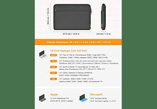"""INATECK 14 Zoll Laptoptasche Hülle für 14"""" Laptops, 15"""" MacBook Pro 2016-2019 Notebooktasche Sleeve für Apple,Lenovo, HP,Acer,Asus,SAMSUNG,Dell,Toshiba und andere Polyester, schwarz"""