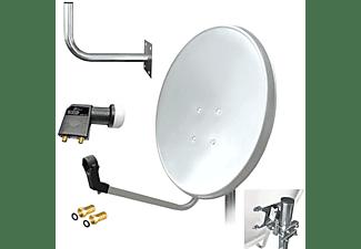 ARLI Satelliten Set Wandhalter 45cm Sat Anlage (80 cm, Twin LNB)