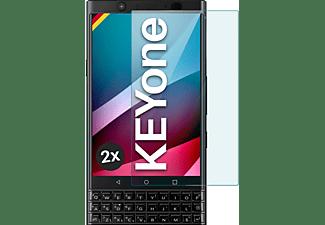 MOEX 2x Panzerglas - Schutzfolie, klar Display Schutzglas(für BlackBerry KEYone)