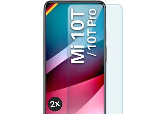 MOEX 2x Panzerglas - Schutzfolie, klar Display Schutzglas(für Xiaomi Mi 10T / Mi 10T Pro)