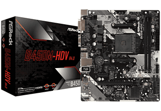 ASROCK B450M-HDV R4.0 (AM4) (D) Mainboards schwarz;weiß