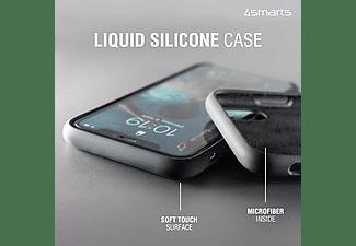 4SMARTS Cupertino Silikon Hülle, Backcover, Apple, iPhone SE (2020), iPhone 8, iPhone 7, Schwarz