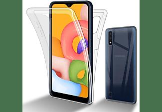 CADORABO Flexible Case Handy Schutzhülle - Hülle - Back Cover 360° Grad, Backcover, Samsung, Galaxy A01, TRANSPARENT