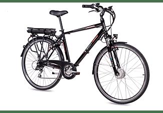 CHRISSON E-GENT Shimano Acera 8G Citybike (Laufradgröße: 28 Zoll, Rahmenhöhe: 53 cm, Herren-Rad, 468 Wh, schwarz)