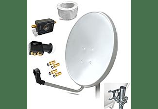 ARLI Satelliten Set 50m Kabel + Satfinder Sat Anlage (80 cm, Quad LNB)