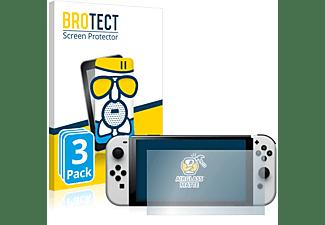 BROTECT 3x Panzerglasfolie Airglass matt Displayschutz(für Nintendo Switch  OLED-Modell)
