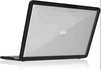 STM Dux Notebookhülle Backcover für Apple Polycarbonate, Transparent, Schwarz