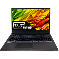 DCL24 Office Laptop, Notebook mit 17,3 Zoll Display, 64 GB RAM, 1000 GB SSD, UHD, Grau
