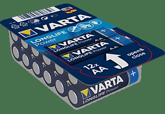 VARTA Longlife Power Mignon AA Batterie 4906 LR6 Big Box (12er) AlMn Batterie, AlMn, 1.5 Volt, 2.96 Ah