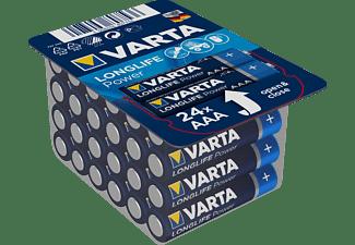 VARTA Longlife Power Micro AAA Batterie 4703 LR03 Big Box (24er) AlMn Batterie, AlMn, 1.5 Volt, 1.26 Ah