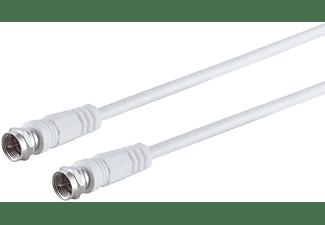 S/CONN MAXIMUM CONNECTIVITY F-Stecker - F-Stecker, <gt/>80 dB, weiß, 5m SAT Kabel