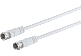 S/CONN MAXIMUM CONNECTIVITY F-Stecker - F-Stecker, <gt/>80 dB, weiß, 1,5m SAT Kabel