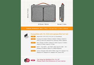 INATECK 15 Zoll Laptop Hülle Tasche Schultertasche für die meisten 15,6-16 Zoll Laptops Notebooktasche Aktentasche für Apple,Lenovo, HP,Acer,Asus,SAMSUNG,Dell,Toshiba und andere Polyester, grau