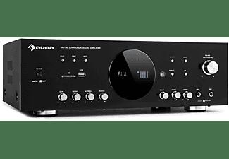 AUNA AMP-218 BT Digital-Verstärker (3Kanäle, 50 Wattpro Kanal, Schwarz)