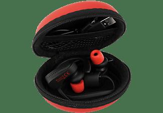 FEINTECH Bluetooth 5.0 Sport In-Ear Kopfhörer mit Mikrofon und Case, In-ear Kopfhörer Bluetooth schwarz