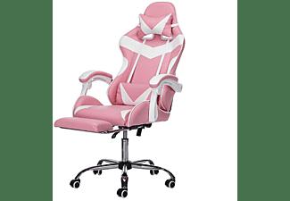 INSMA GS887P Gaming Stuhl, Rosa;Weiß