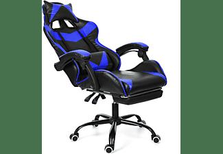 INSMA GS887B Gaming Stuhl, Blau; Schwarz