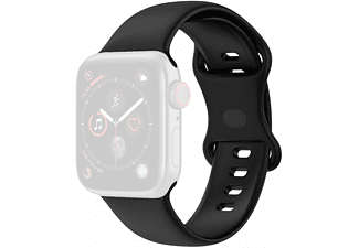 KÖNIG DESIGN Sportarmband, Sportarmband, Apple, Watch Series 1/2/3/4/5/6/SE 44-42mm, Schwarz