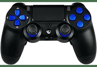 LUXCONTROLLER PS4 Custom Controller mit 2 Paddles| BlueRok Wireless-Controller} schwarz