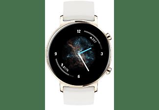 HUAWEI Watch GT 2 Smartwatch Silikonarmband, weiss