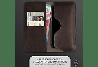 MOEX Purse Case, Flip Cover, BlackBerry, KEYone, Dunkelbraun