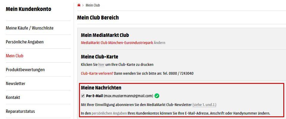 Media Markt Club Karte Geschenke.Wissenswertes Zum Club
