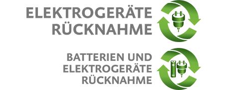 Batterien und Elektrogeräte Rücknahme