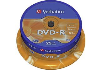 VERBATIM DVD-R 16x 25er Spindel Matt Silver