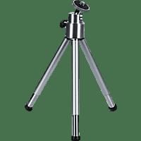 HAMA Ball L Dreibein Mini-Stativ, Silber, Höhe offen bis 210 mm