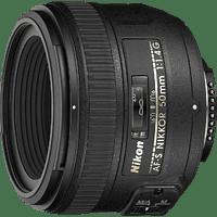 NIKON AF-S NIKKOR 50mm 1:1,4G 50 mm f/1.4 AF-S (Objektiv für Nikon F-Mount, Schwarz)