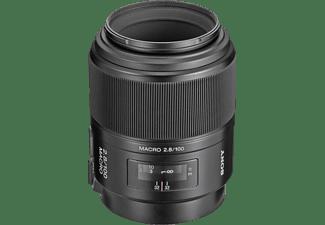 SONY SAL100M28 Vollformat - 100 mm f/2.8 Circulare Blende (Objektiv für Sony A-Mount, Schwarz)