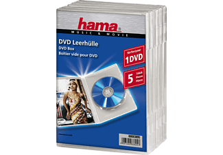 HAMA 83895 DVD SLIM BOX CLEAR - DVD-Leerhülle (Transparent)