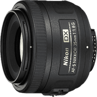 NIKON JAA132DA NIKKOR G 35 mm f/1.8 AF-S, DX (Objektiv für Nikon F-Mount, Schwarz)